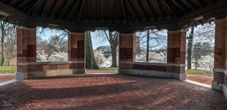 Panorama del gazebo della primavera Fotografia Stock