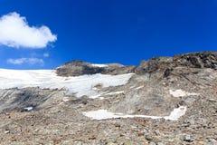 Panorama del ghiacciaio con la montagna Kristallwand, alpi di Hohe Tauern, Austria Immagine Stock Libera da Diritti