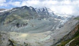 Panorama del ghiacciaio dell'Austria Pasterze Fotografia Stock