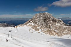 Panorama del ghiacciaio di Dachstein in alpi austriache Fotografia Stock Libera da Diritti