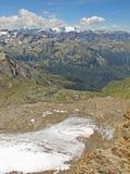 Panorama del ghiacciaio di Kitzsteinhorn, Austria Immagini Stock