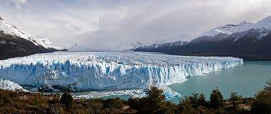 Panorama del ghiacciaio di Perito Moreno Fotografia Stock