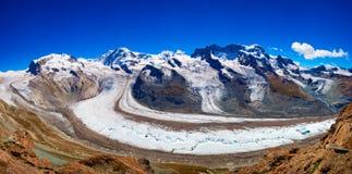 Panorama del glaciar Foto de archivo libre de regalías