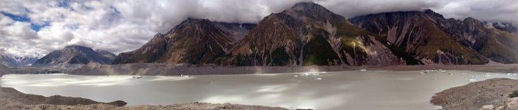 Panorama del glaciar de Aoraki Imagen de archivo libre de regalías