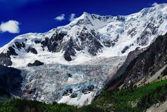 Panorama del glaciar de Midui Imagenes de archivo
