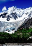 Panorama del glaciar de Midui Foto de archivo
