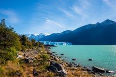 Panorama del glaciar Perito Moreno en Patagonia fotos de archivo