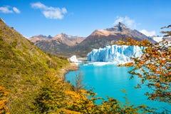 Panorama del glaciar Perito Moreno en Patagonia foto de archivo libre de regalías