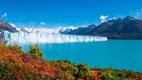 Panorama del glaciar Perito Moreno en Patagonia imagen de archivo