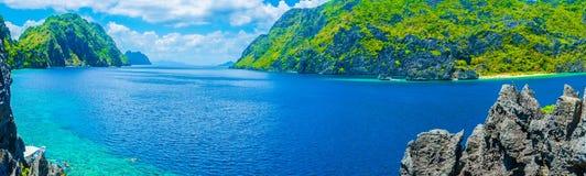 Panorama del golfo del mare Fotografia Stock