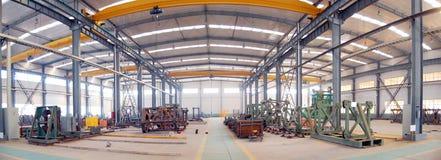 Panorama del gruppo di lavoro della fabbrica Fotografia Stock Libera da Diritti