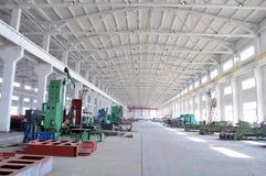 Panorama del gruppo di lavoro della fabbrica Fotografie Stock