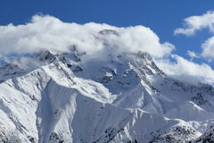 Panorama del Hils, Les Deux Alpes, Francia, francese Fotografie Stock