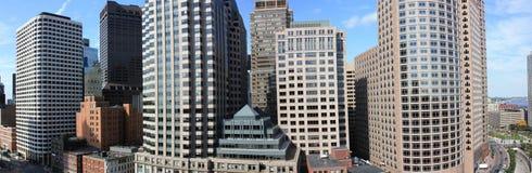 Panorama del horizonte de Boston foto de archivo libre de regalías