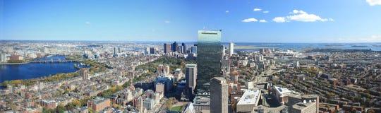 Panorama del horizonte de Boston fotografía de archivo