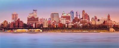 Panorama del horizonte de Brooklyn Imagen de archivo libre de regalías
