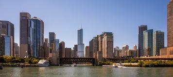 Panorama del horizonte de Chicago Foto de archivo