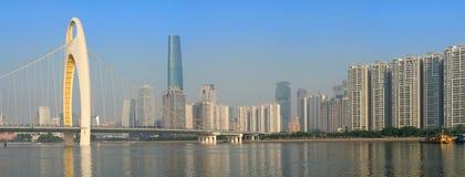 Panorama del horizonte de la ciudad Fotos de archivo libres de regalías