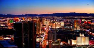 Panorama del horizonte de la ciudad de Las Vegas Imágenes de archivo libres de regalías
