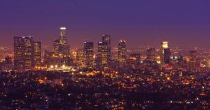 Panorama del horizonte de Los Ángeles Fotos de archivo libres de regalías