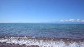 Panorama del horizonte de mar tranquilo almacen de video