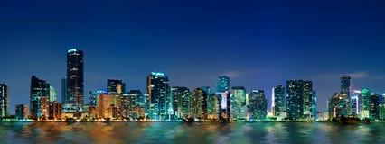Panorama del horizonte de Miami Fotos de archivo libres de regalías
