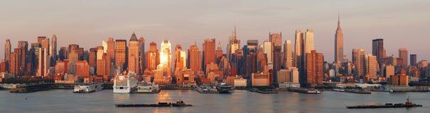 Panorama del horizonte de New York City Manhattan fotografía de archivo libre de regalías