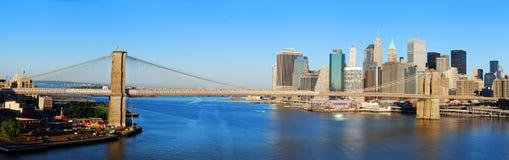 Panorama del horizonte de New York City Manhattan fotografía de archivo