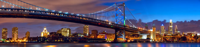 Panorama del horizonte de Philadelphia Imagen de archivo libre de regalías