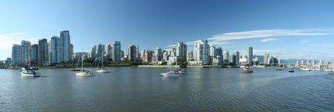Panorama del horizonte de Vancouver foto de archivo libre de regalías