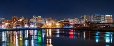 Panorama del horizonte de Wilmington Foto de archivo libre de regalías