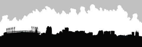 Panorama del horizonte de XXL Cleveland ilustración del vector
