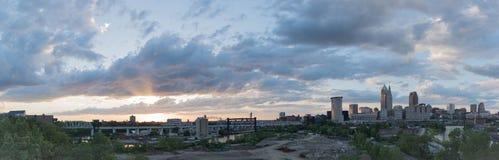 Panorama del horizonte de XXL Cleveland Foto de archivo libre de regalías