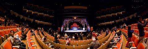 Panorama del interior del teatro de la ópera de Sydney Fotos de archivo