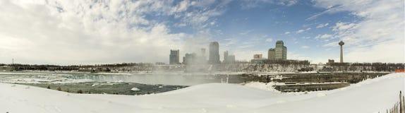 Panorama del invierno de Niagara Fotos de archivo