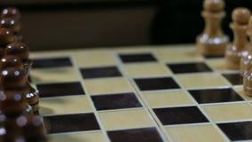 Panorama del juego de ajedrez metrajes