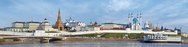 Panorama del Kazán el Kremlin imagen de archivo