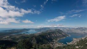 Panorama del kotor Montenegro Imagen de archivo libre de regalías