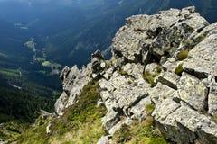 Panorama del Krkonose Mts. Fotografie Stock