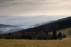 Panorama del Krkonose Mts. Fotografia Stock Libera da Diritti