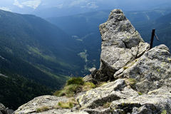 Panorama del Krkonose Mts. Sosta-Ceco nazionale Immagine Stock Libera da Diritti