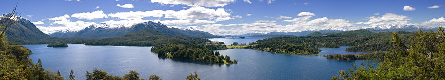 Panorama del lago Immagine Stock Libera da Diritti