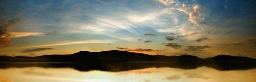 Panorama del lago Fotografía de archivo