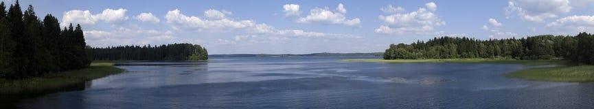 Panorama del lago Immagini Stock
