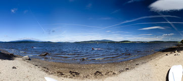Panorama del lago Imagenes de archivo