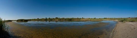 Panorama del lago Imágenes de archivo libres de regalías