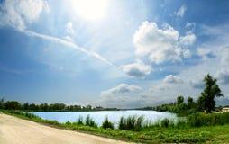 Panorama del lago Imagen de archivo libre de regalías