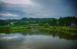 Panorama del lago Fotografie Stock