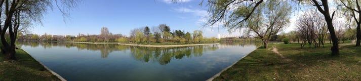 Panorama del lago Foto de archivo libre de regalías