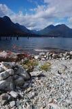 Panorama del lago Alouette Fotografie Stock
